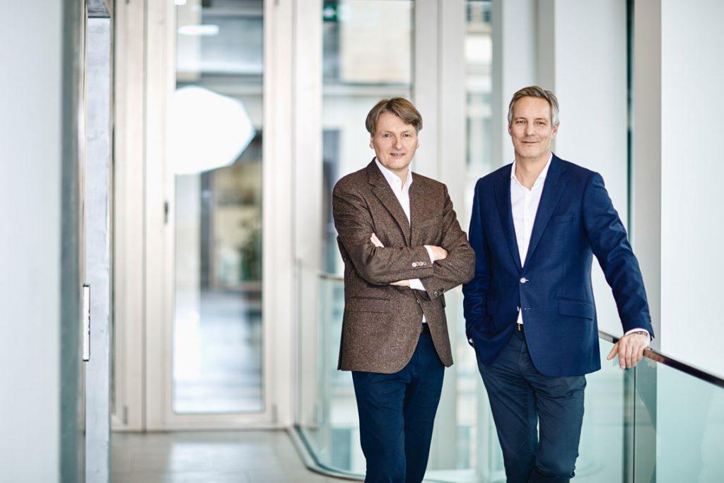 Frank Solms Nebelung und Ulf Ziegler stehend nebeneinander
